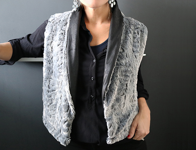 Shawl Collar Fur Vest