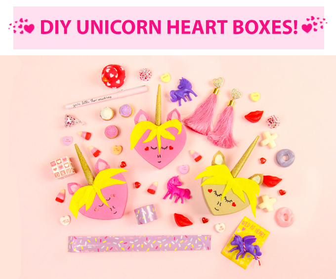 DIY Unicorn Heart Boxes for Valentine's Day
