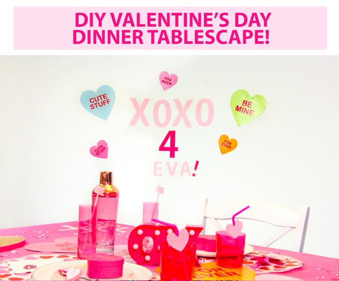 DIY Valentine's Day Dinner Tablescape