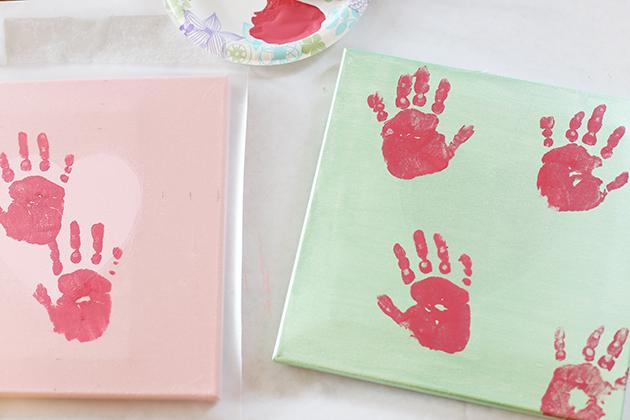 hand print canvas