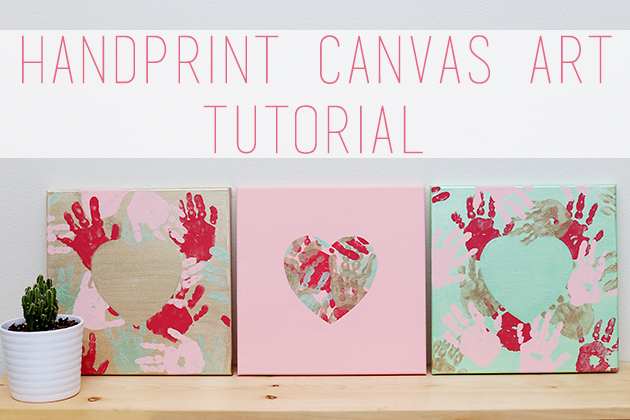 Hand Print Canvas Art Tutorial