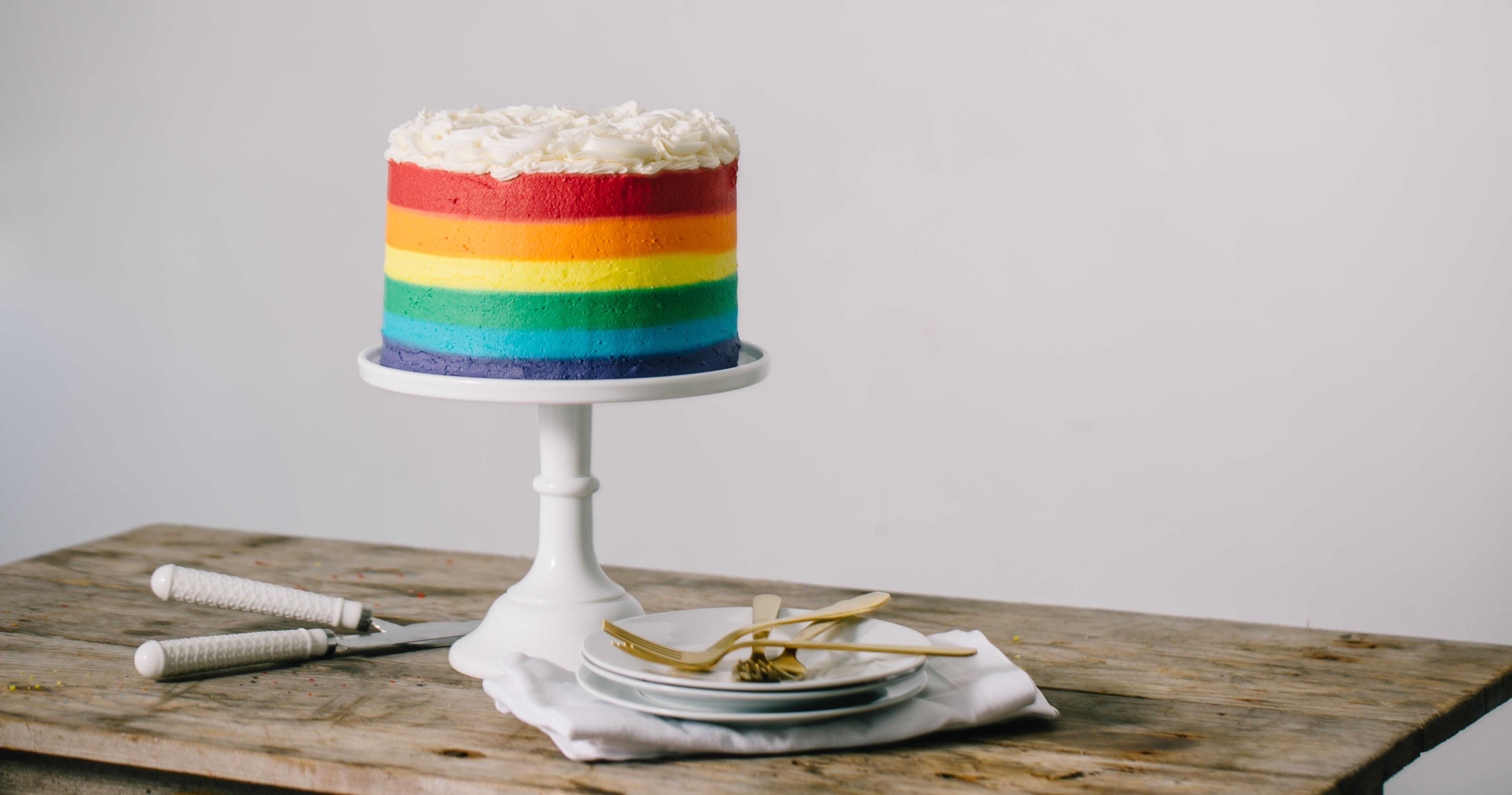 Rainbow Surprise Cake