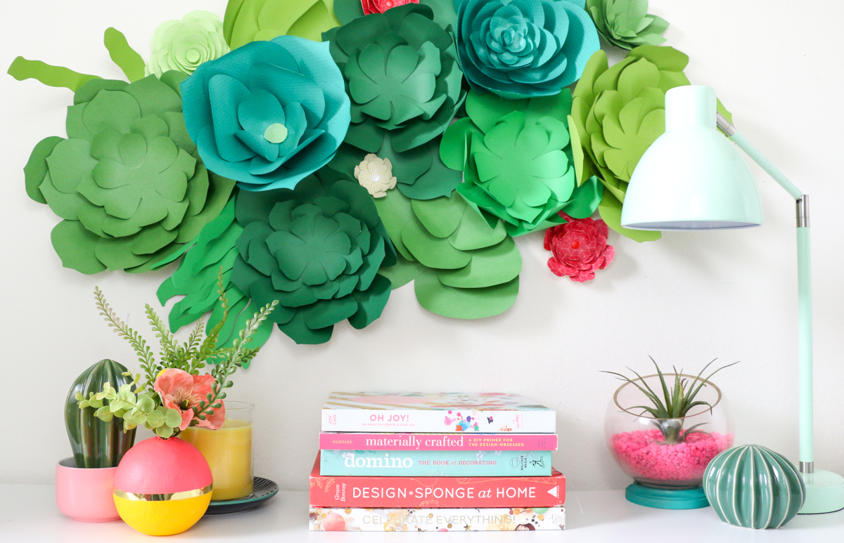 Create a Paper Succulent Wall for Spring