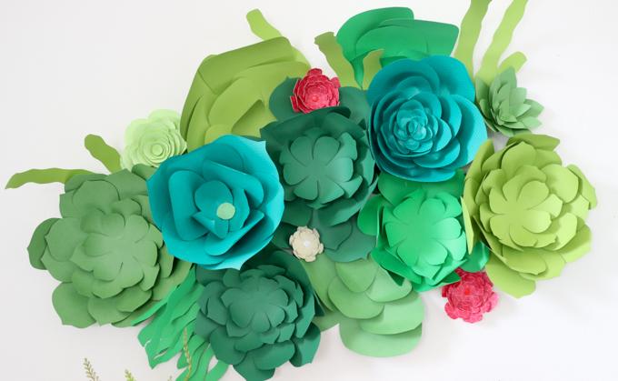 paper succulent wall