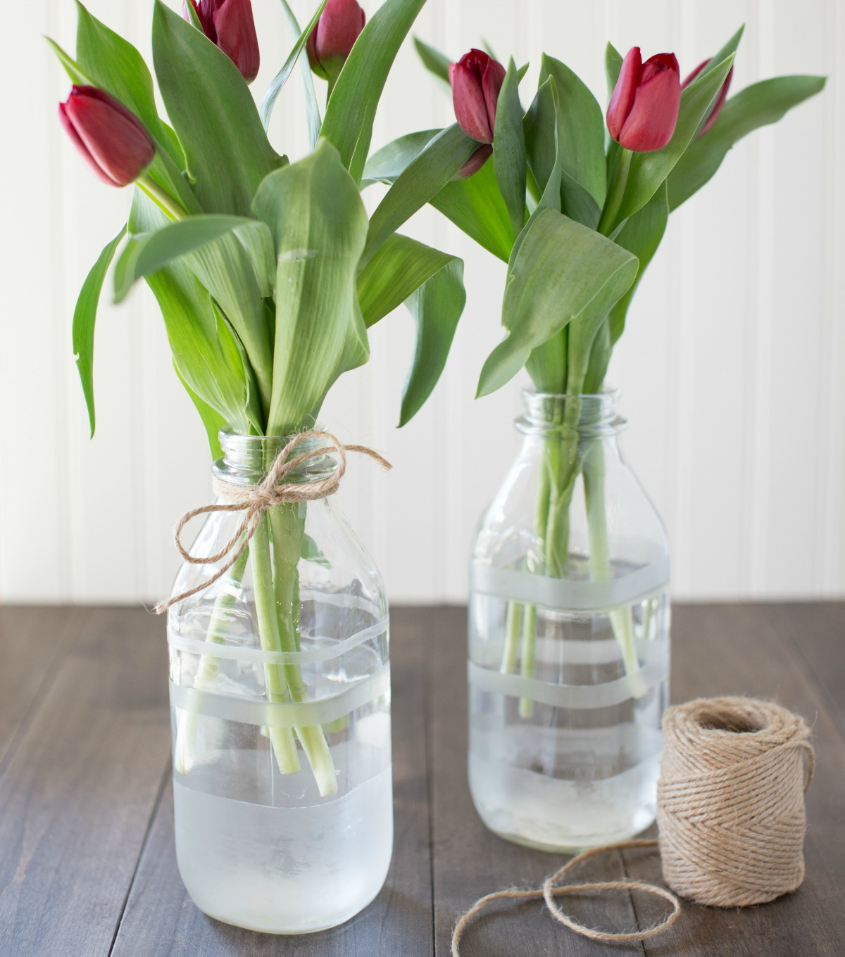 DIY Etches Flower Vases