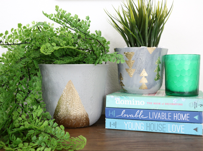 DIY Faux Concrete Planter