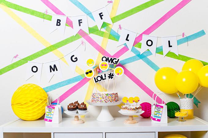 DIY Emoji Themed Party