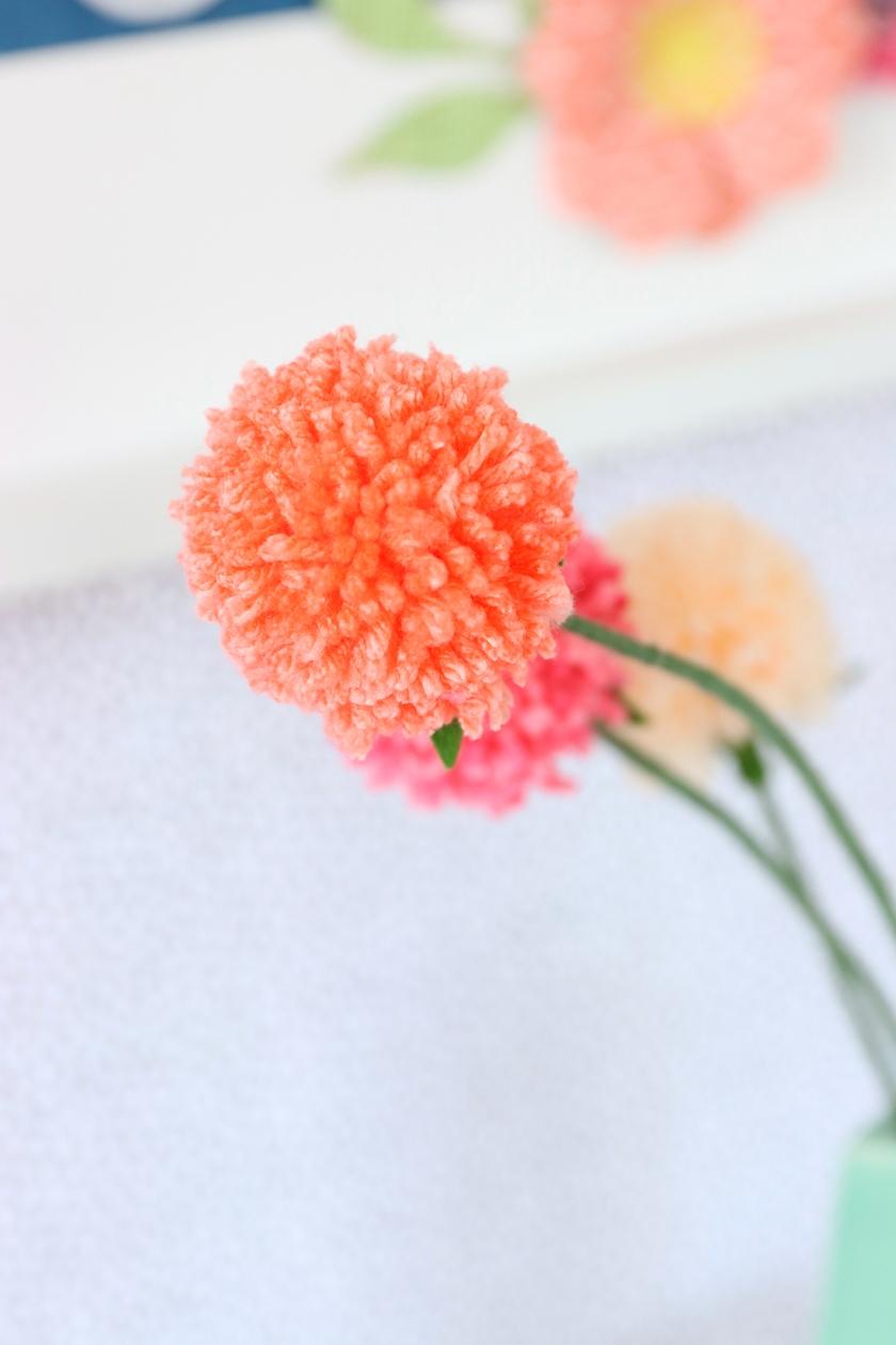 yarn wire flowers