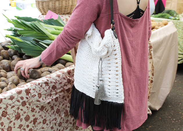 DIY Crochet Eyelet Bag