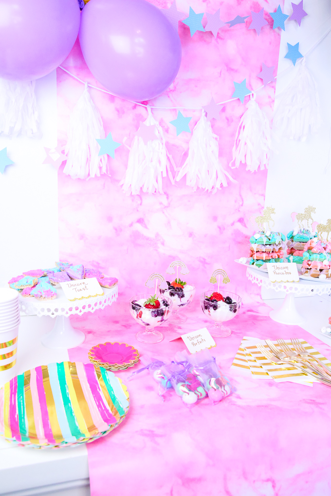 Host a Magical Unicorn Slumber Party Breakfast