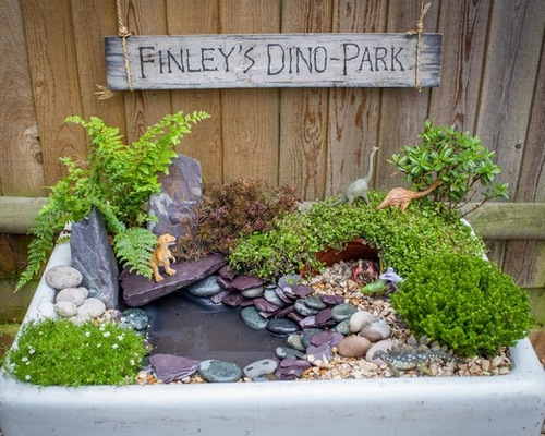 A Mini Dinosaur Garden Fit for a 3-Year-Old