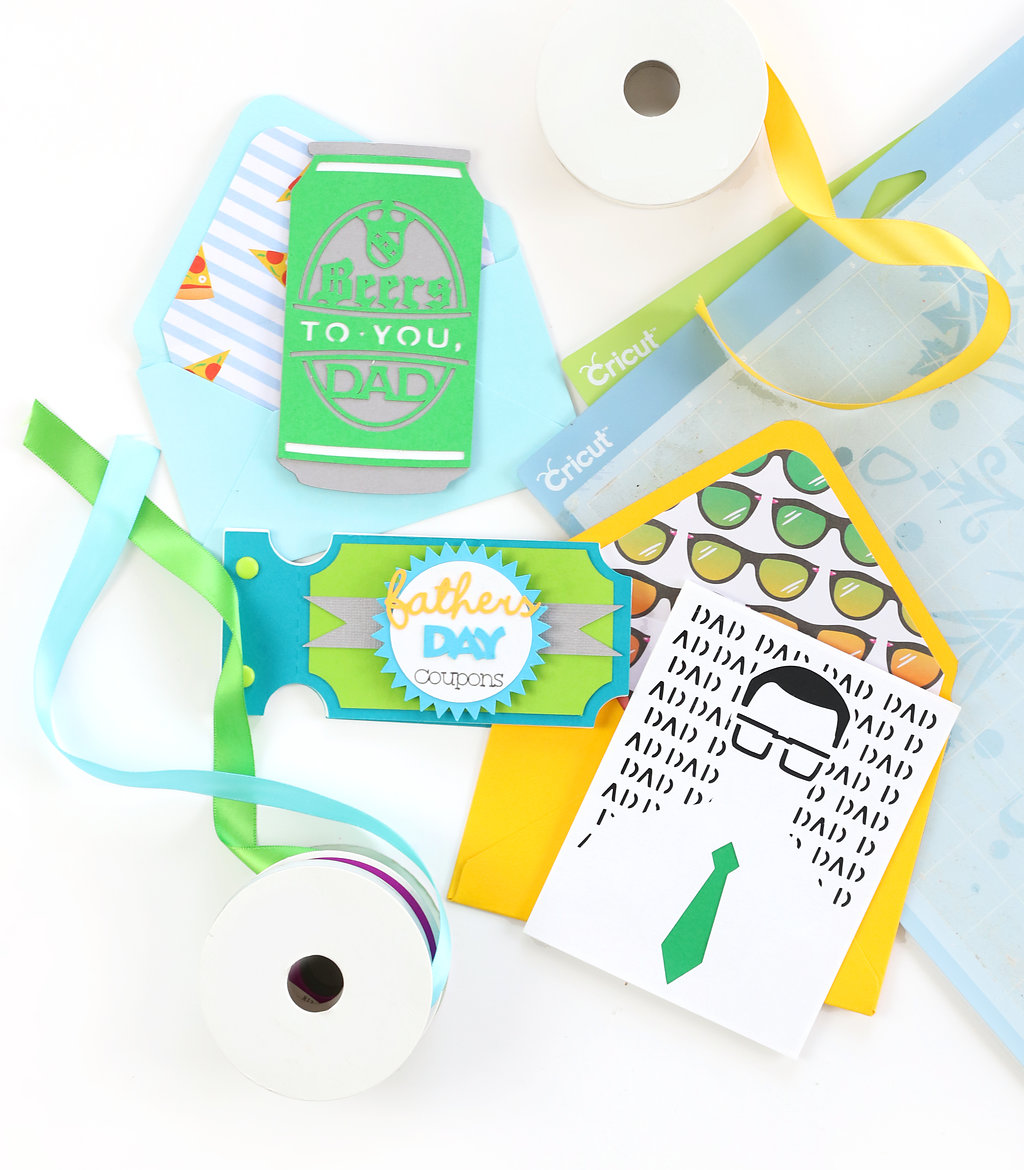 Papercrafted Father's Day Cards With The Cricut Explore