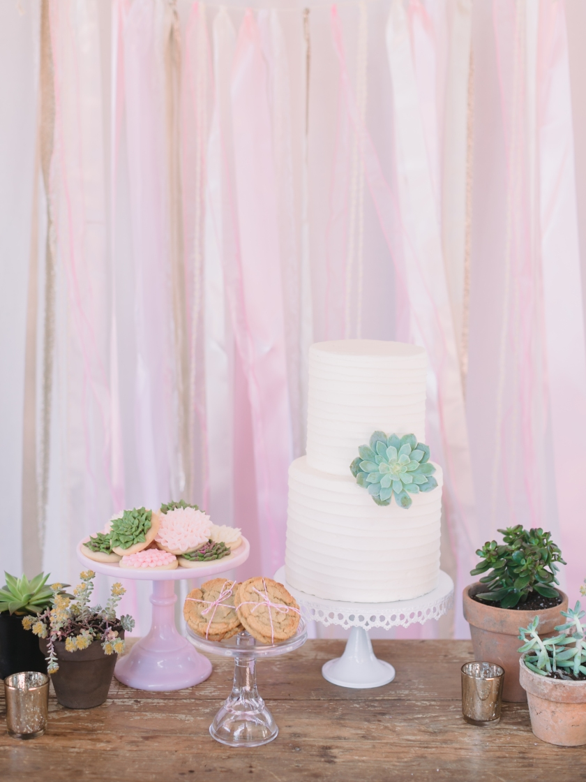 bridal dessert table