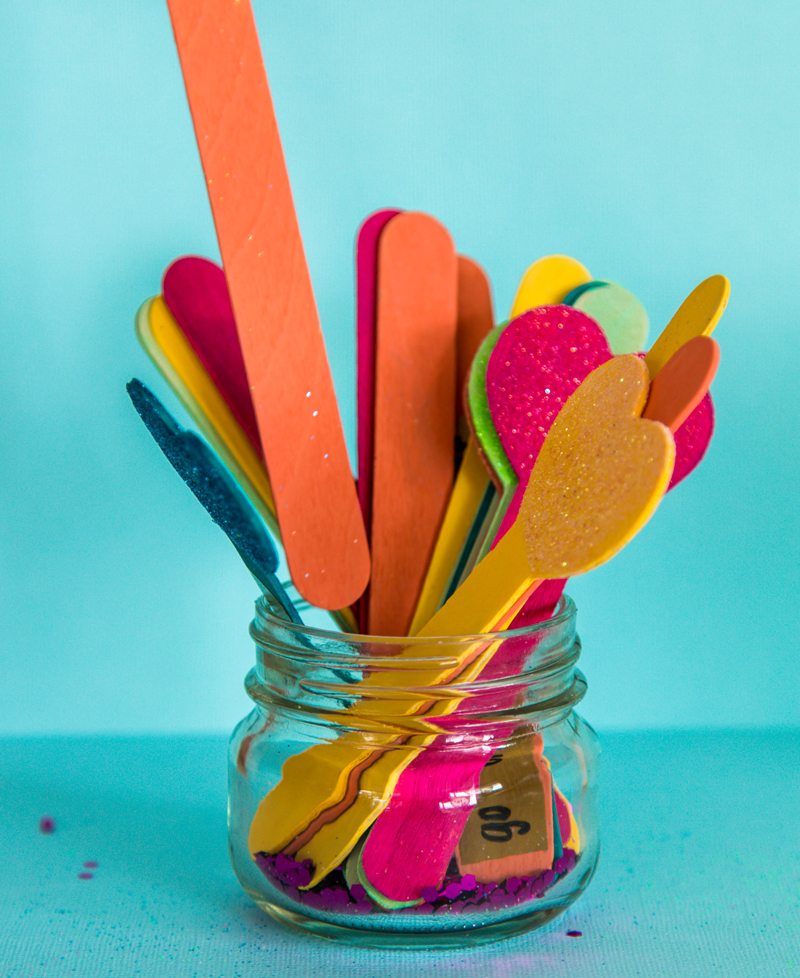 Popsicle stick bucket list