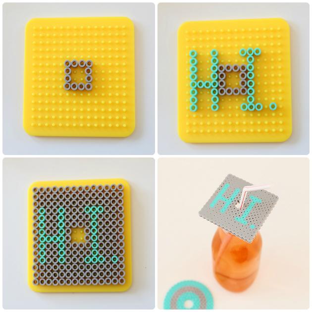 perler bead coasters