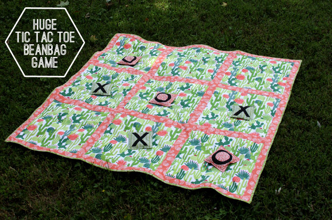 DIY Huge Tic Tac Toe Beanbag Game
