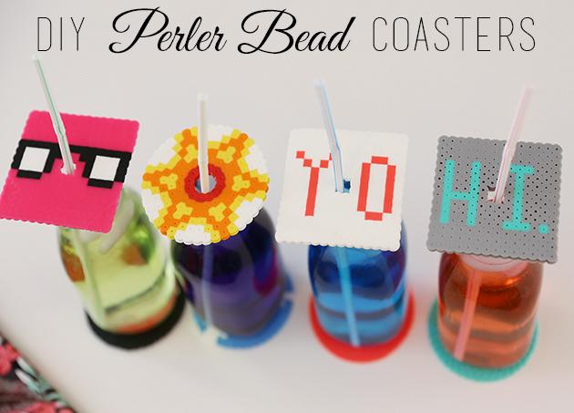 DIY Perler Bead Coasters