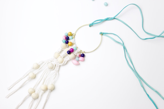 Learn How to DIY a Colorful Macrame Necklace