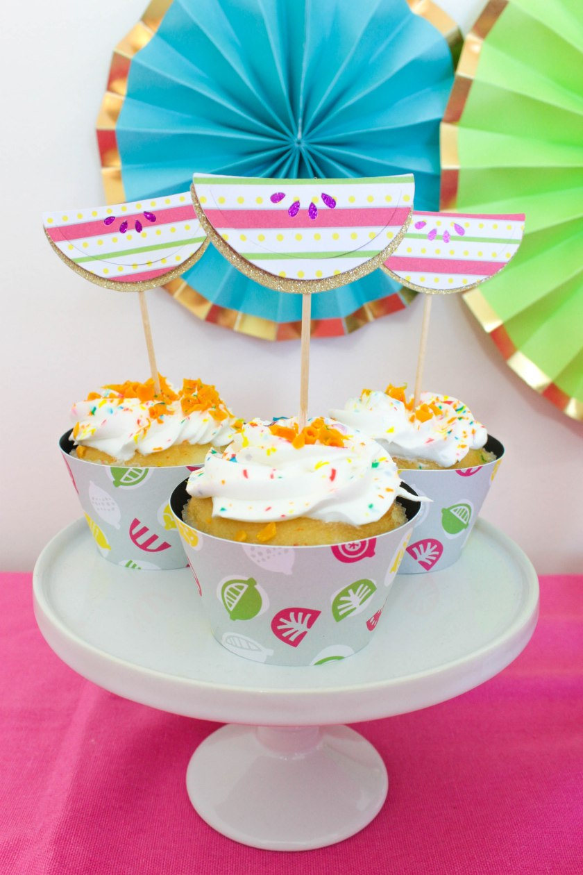 Summer Cupcakes With Cricut