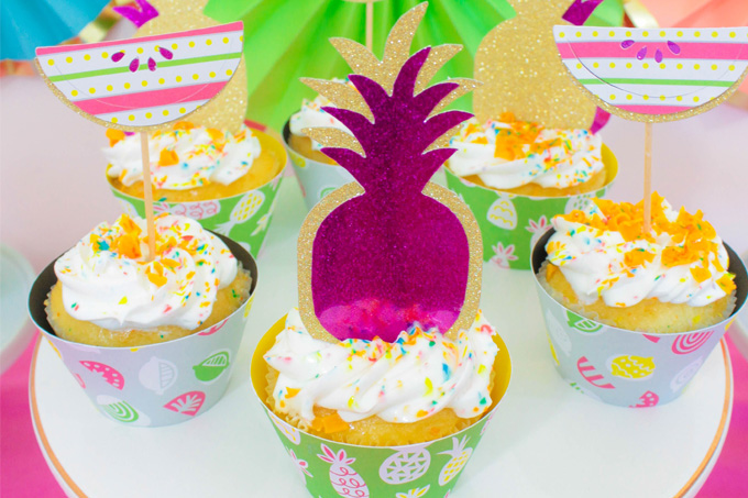 Make These Fun Summer Party Cupcakes With Cricut