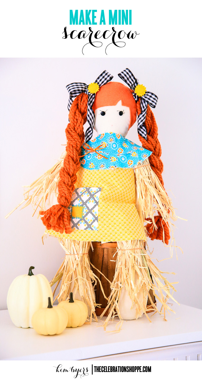 Decorate Sweet Little Mini Scarecrows For Fall