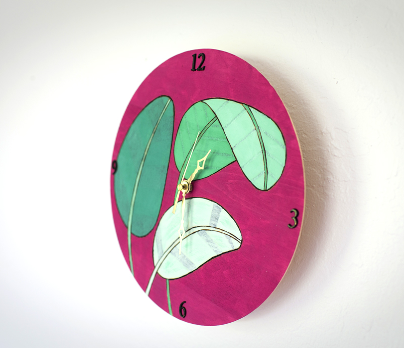 DIY Woodburn Clock