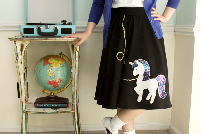 How to Sew a Cute Fifties Costume with a Unicorn Twist
