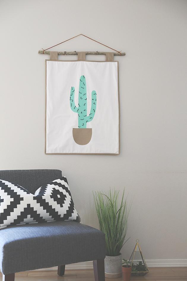 cactus wall hanging