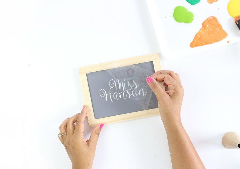 crayon chalkboard