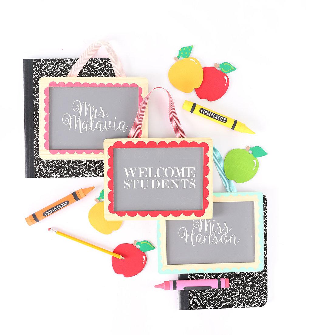 DIY Crayon Chalkboard Signs