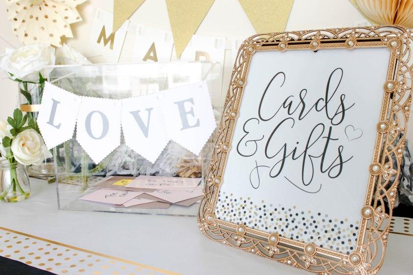 wedding card table