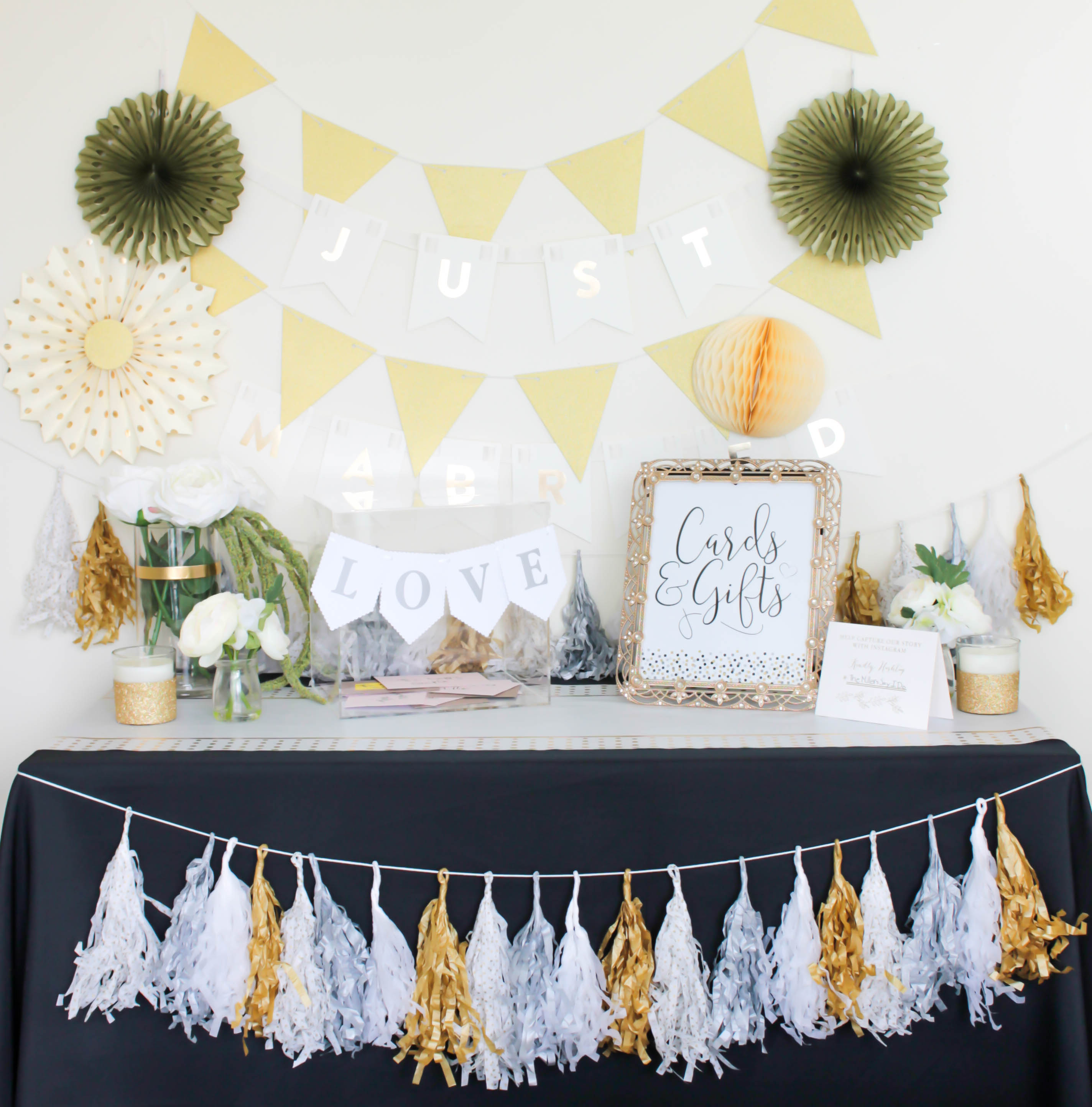 How to Make a Card and Gift Table for Your Wedding with Save The Date from JOANN