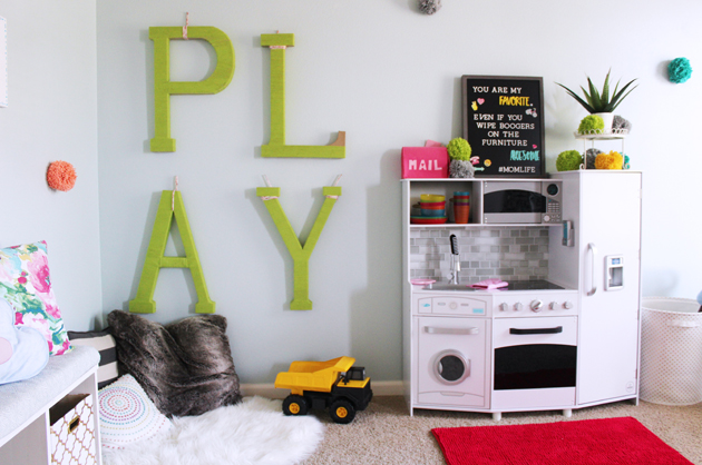 DIY Play Room Makeover