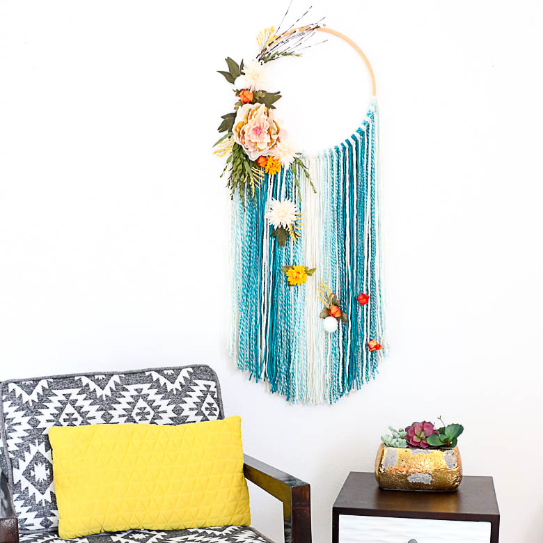 DIY Fall Floral Wall Hanging