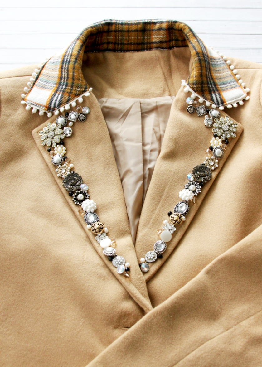 Beaded Coat Lapels