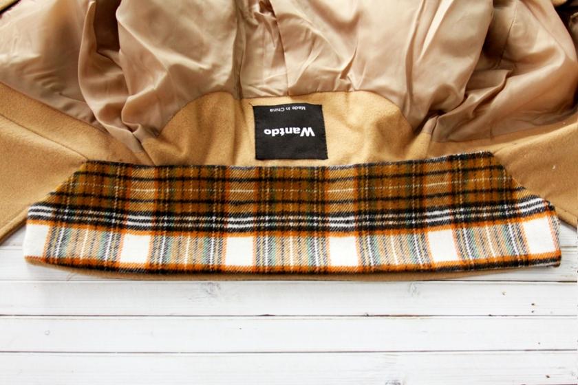 Flannel refashion for coat collar