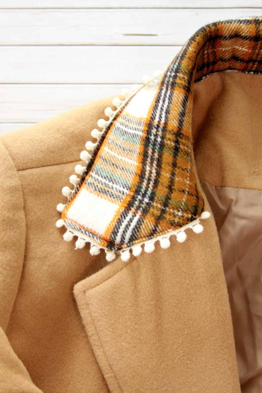 Plaid Flannel Coat Collar Refashion