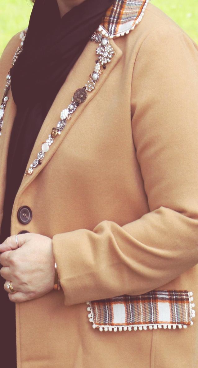Pretty Winter Coat Flannel and Lace Refashion