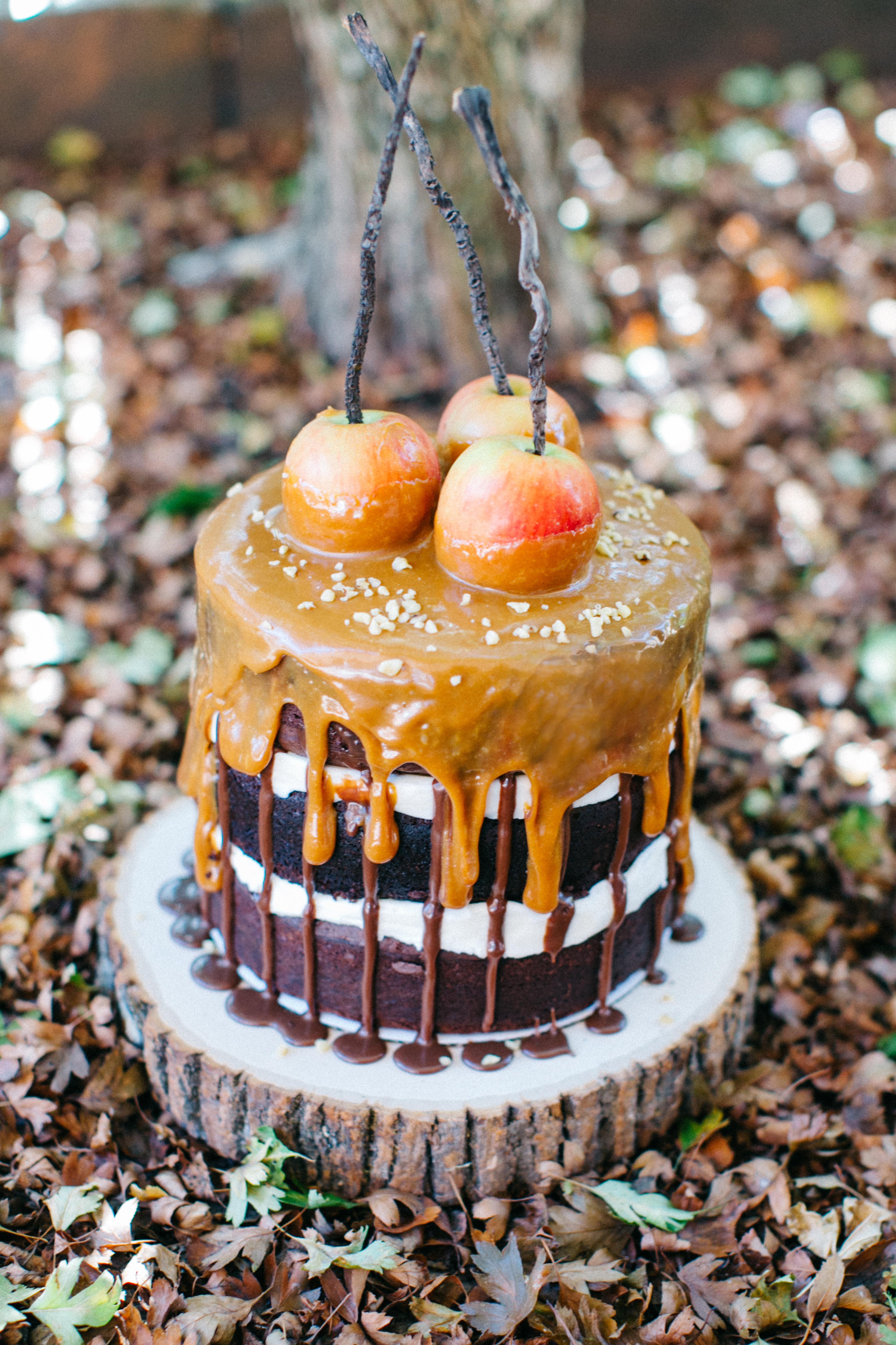 Naked Caramel Apple Cake