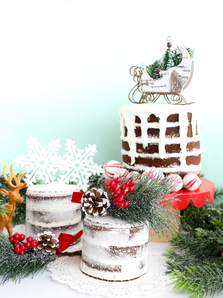 Naked Gingerbread Cakes