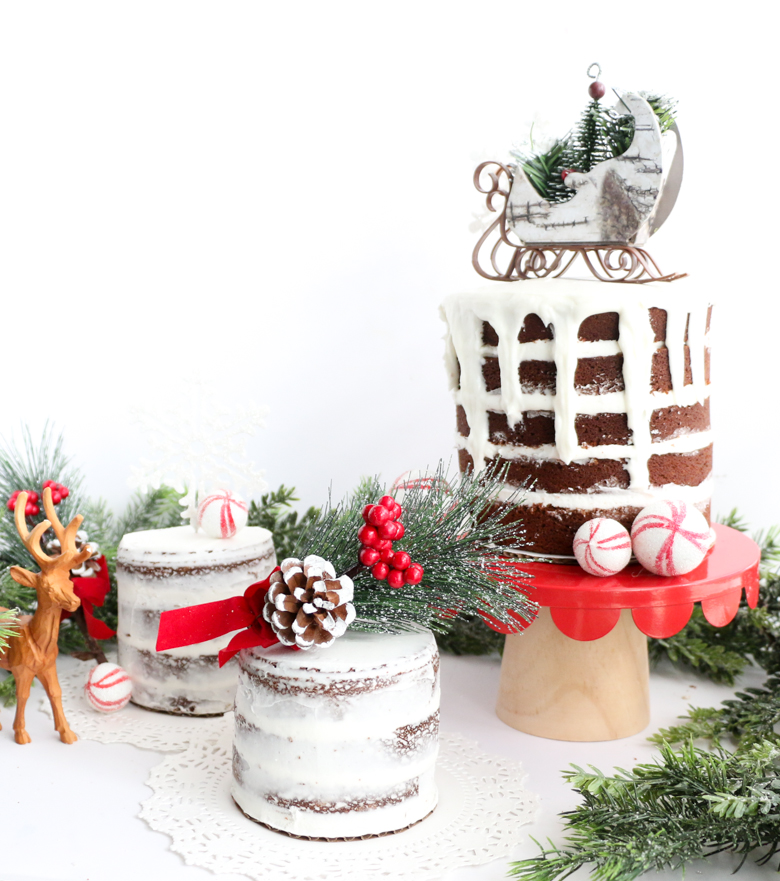 Gingerbread Naked Cakes-6