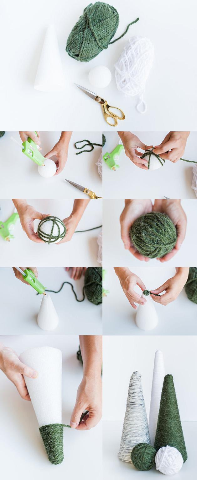 Holiday Yarn Trees and Balls