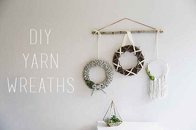 DIY Yarn Wreaths