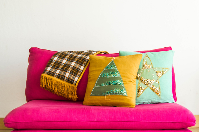 Holiday Pillows and Throw