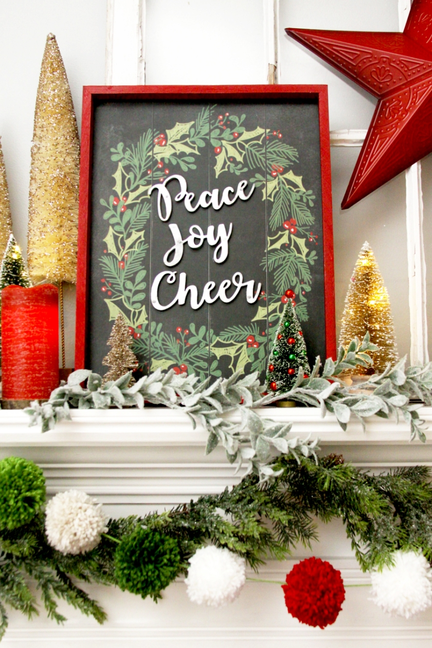 Pretty Chalk Christmas Sign