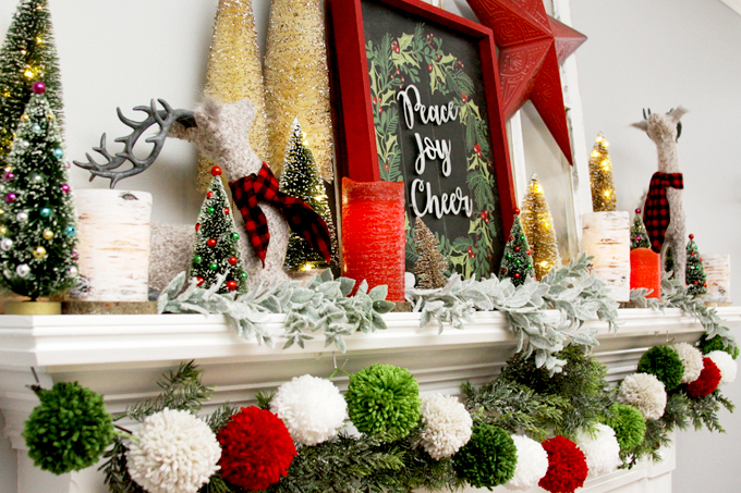 Colorful Christmas Mantle