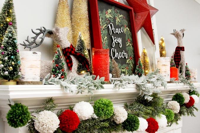 Colorful Christmas Mantle