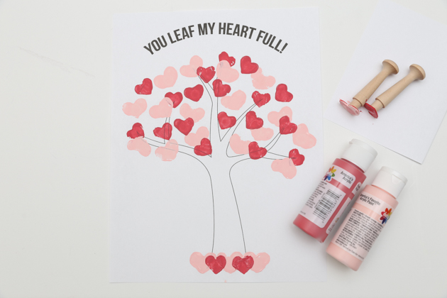 Heart Stamp Tree Craft (17 of 30)