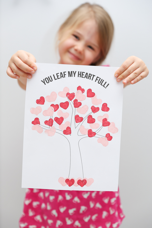 DIY Heart Stamp Tree Art