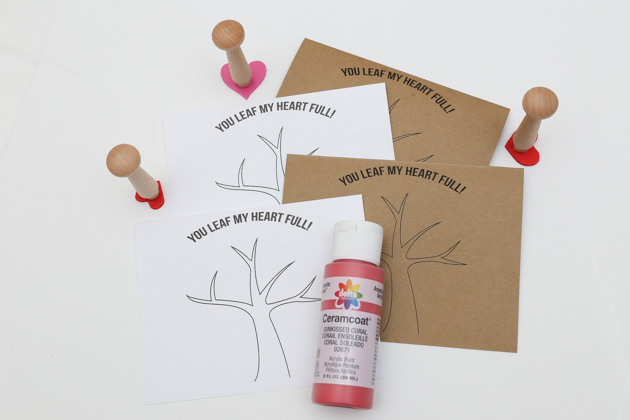 Heart Stamp Tree Craft (5 of 30)